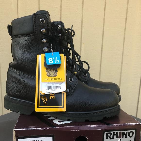 1e91ba3ba78 Rhino Steel Toe Boots   Combat Boots   Work Boots NWT